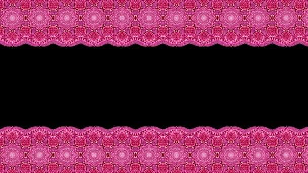 nahtloser roter Mandala-Rand. Zirkelspitze mit magischem Ornament. Indisch, osmanisch, arabisch