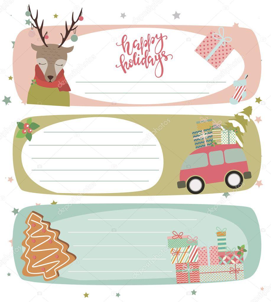 collection of christmas gift tags stock vector miobuono12 128686106