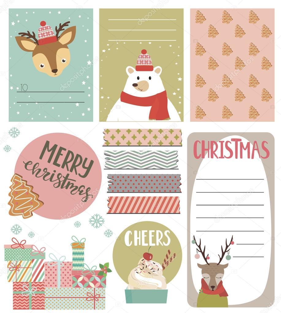 Sammlung von Weihnachtsgeschenk Stichworte — Stockvektor ...