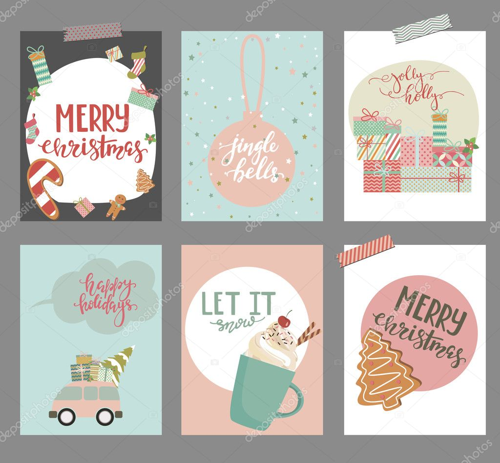 Clave de la colección de regalo de Navidad — Vector de stock ...