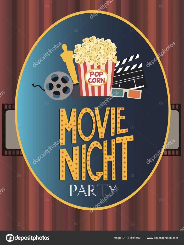 Film-Party-Einladung-Karte — Stockvektor © MioBuono12 #131564660