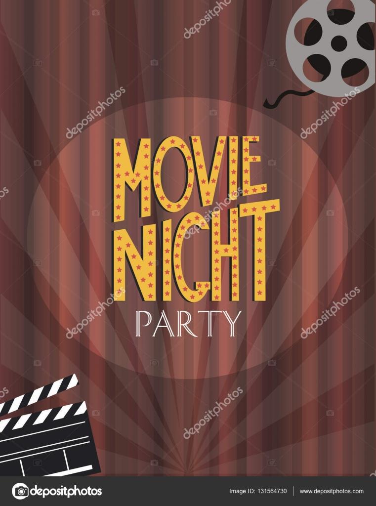 Film-Party-Einladung-Karte — Stockvektor © MioBuono12 #131564730