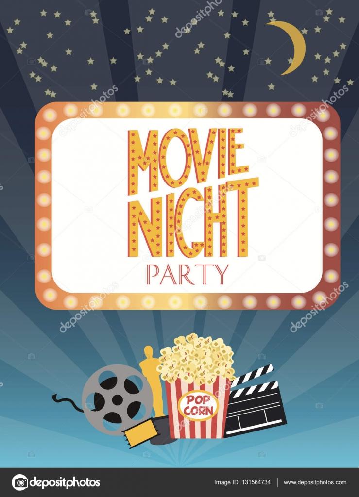 Film-Party-Einladung-Karte — Stockvektor © MioBuono12 #131564734