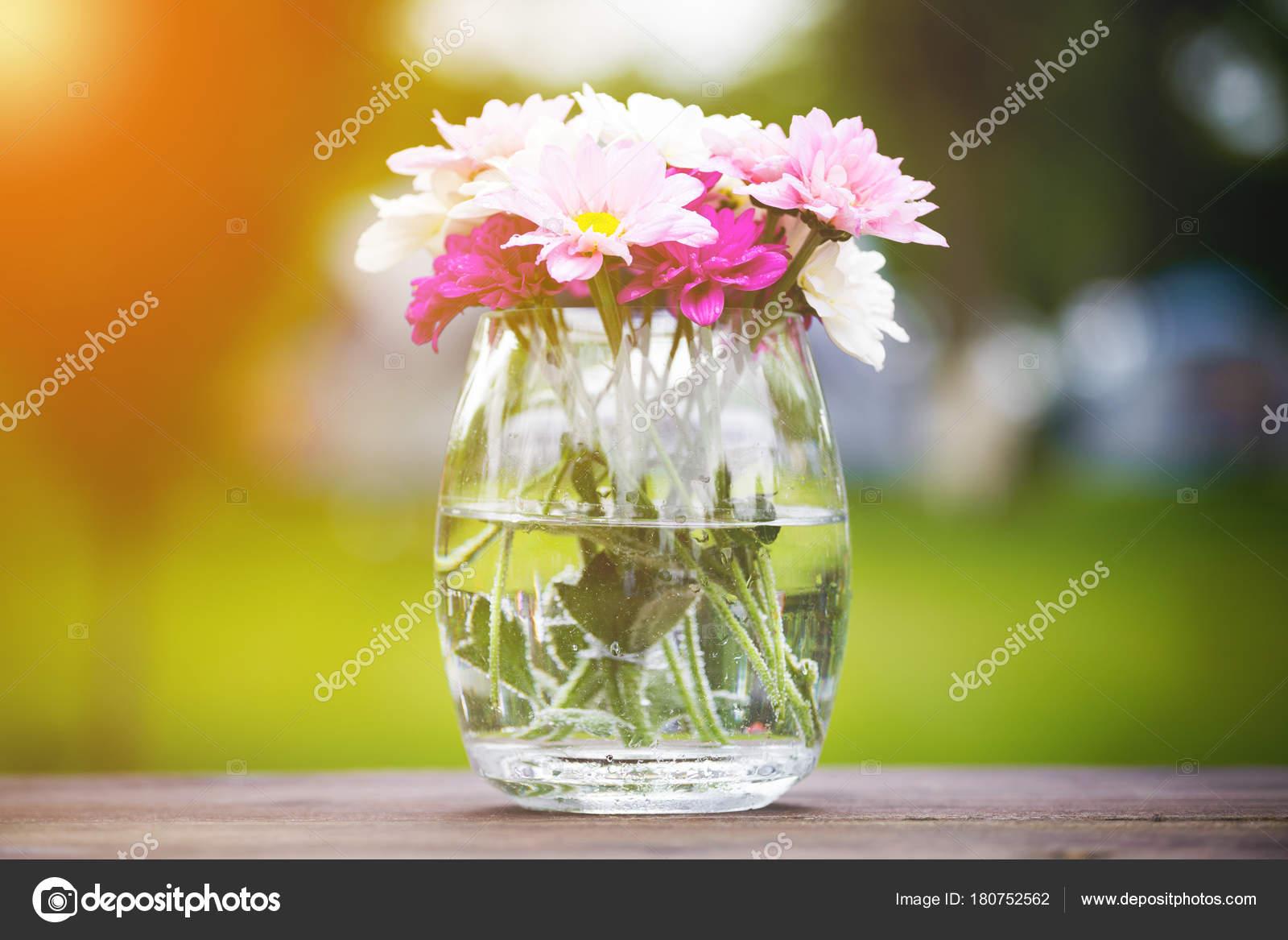 Decorative Posy Of Fresh Pink Summer Flowers Stock Photo