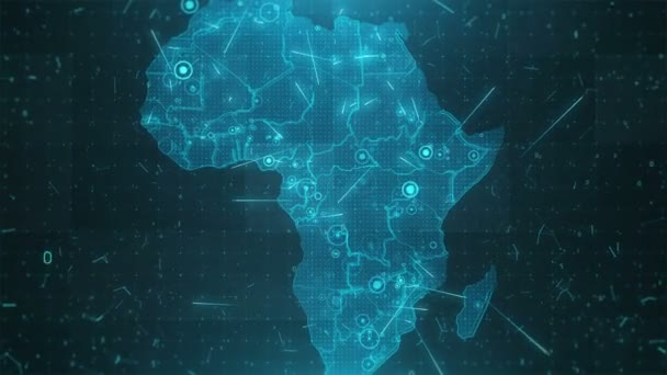 Africa Map Background.Africa Map Background Cities Connections 4k Stock Video