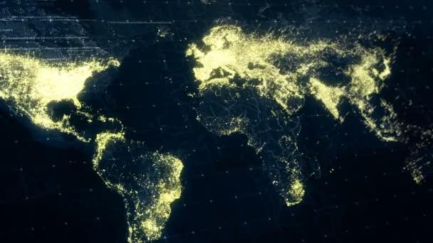 World map night lighting stock video shilovaoksana 134918868 world map night lighting stock video gumiabroncs Gallery