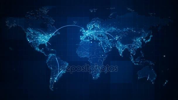 Připojení Tmavomodrý svět mapa smyčka