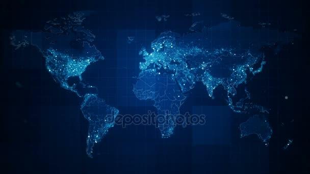 Globální Tmavomodrý svět mapa smyčka