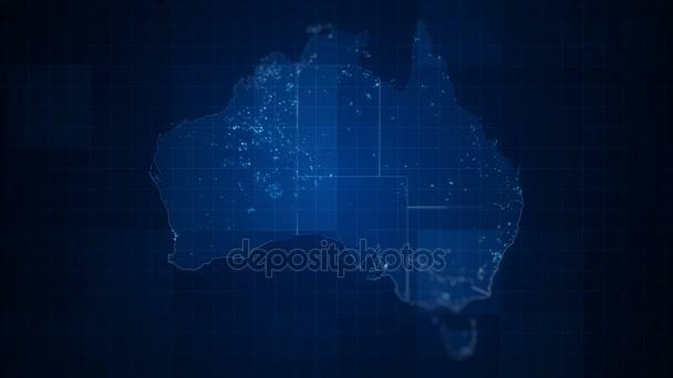 Map Of Australia Video.Global Blue Australia Map Loop