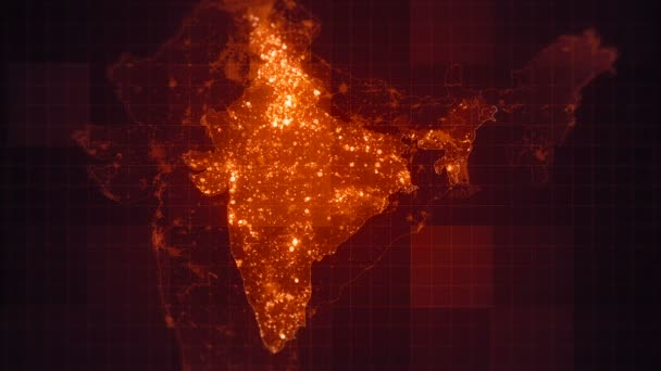India maps night lighting looped animated india map visual effects india maps night lighting looped animated india map with visual effects and glowing lighting elements in different places at night on the map gumiabroncs Gallery