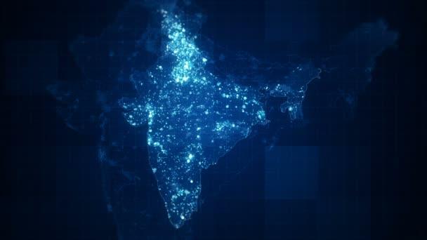 India Maps Night Lighting. Looped animated India map with visual effects on brazil map, africa map, korea map, japan map, arabian sea map, karnataka map, sri lanka map, andhra pradesh map, time zone map, europe map, france map, canada map, california map, china map, indian subcontinent map, maharashtra map, russia map, texas map, australia map,