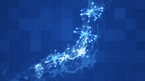 animated japan map grid animated networks main directions visual