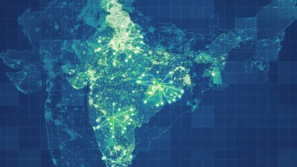 animated india map grid animated networks main directions visual