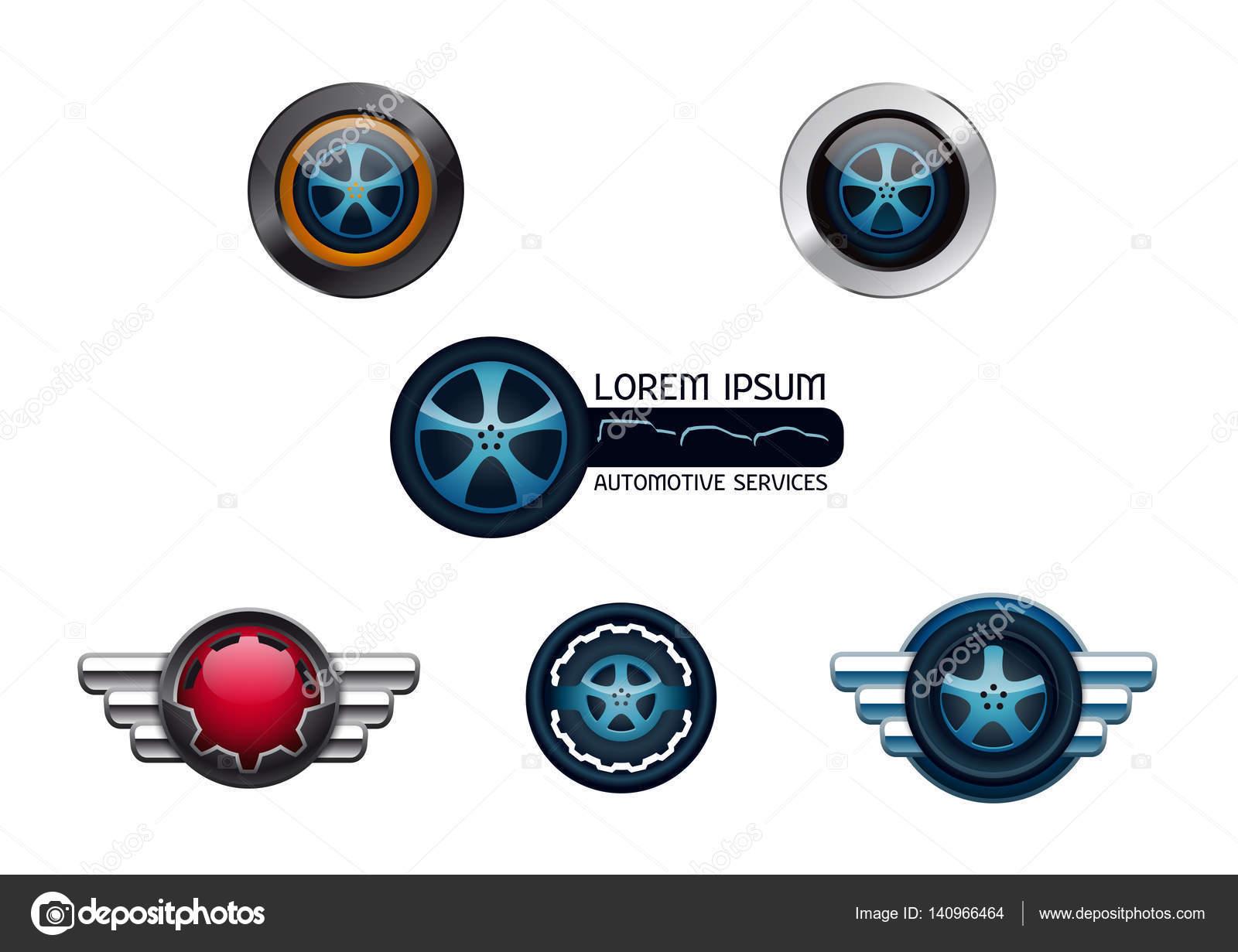 Automotive Car Services Vector Logo Collection Stock Vector