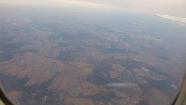 Letadlo letící pohled z kabiny