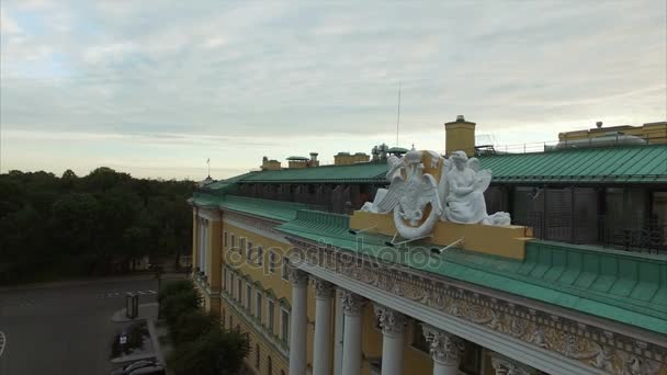 Angels on a balcony of hotel