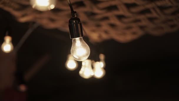 Lamp garland in interior