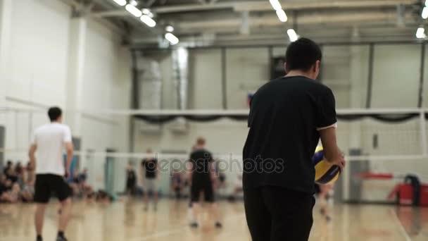 lidé hrají volejbal