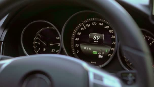 Digital speedometer in car driving