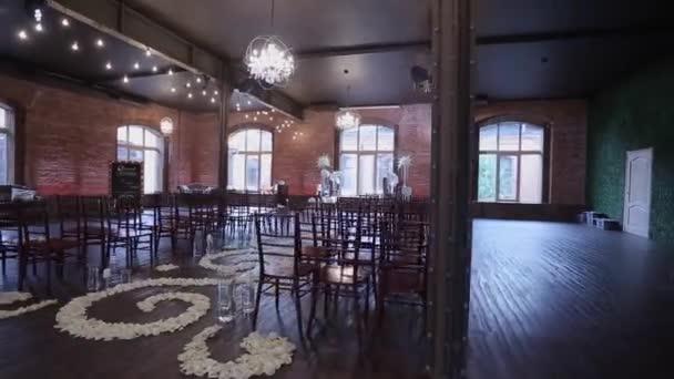 Wedding Ceremony Decoration Indoors Stock Video Lponline 144547387