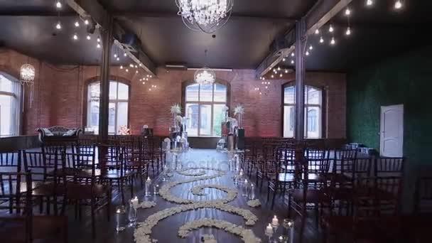 Wedding Ceremony Decoration Indoors Stock Video Lponline 144547421