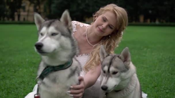 Nevěsta s psy husky