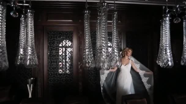 Bride in luxury interior