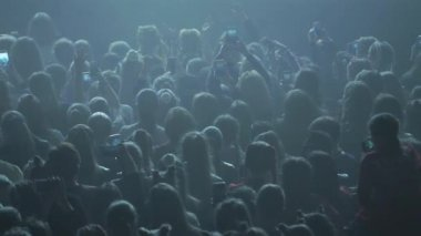 People dancing at the concert in club