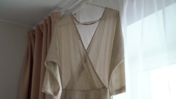 Womans dress beige color