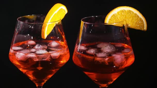 Pair of glasses with alcoholic drink beverage wine