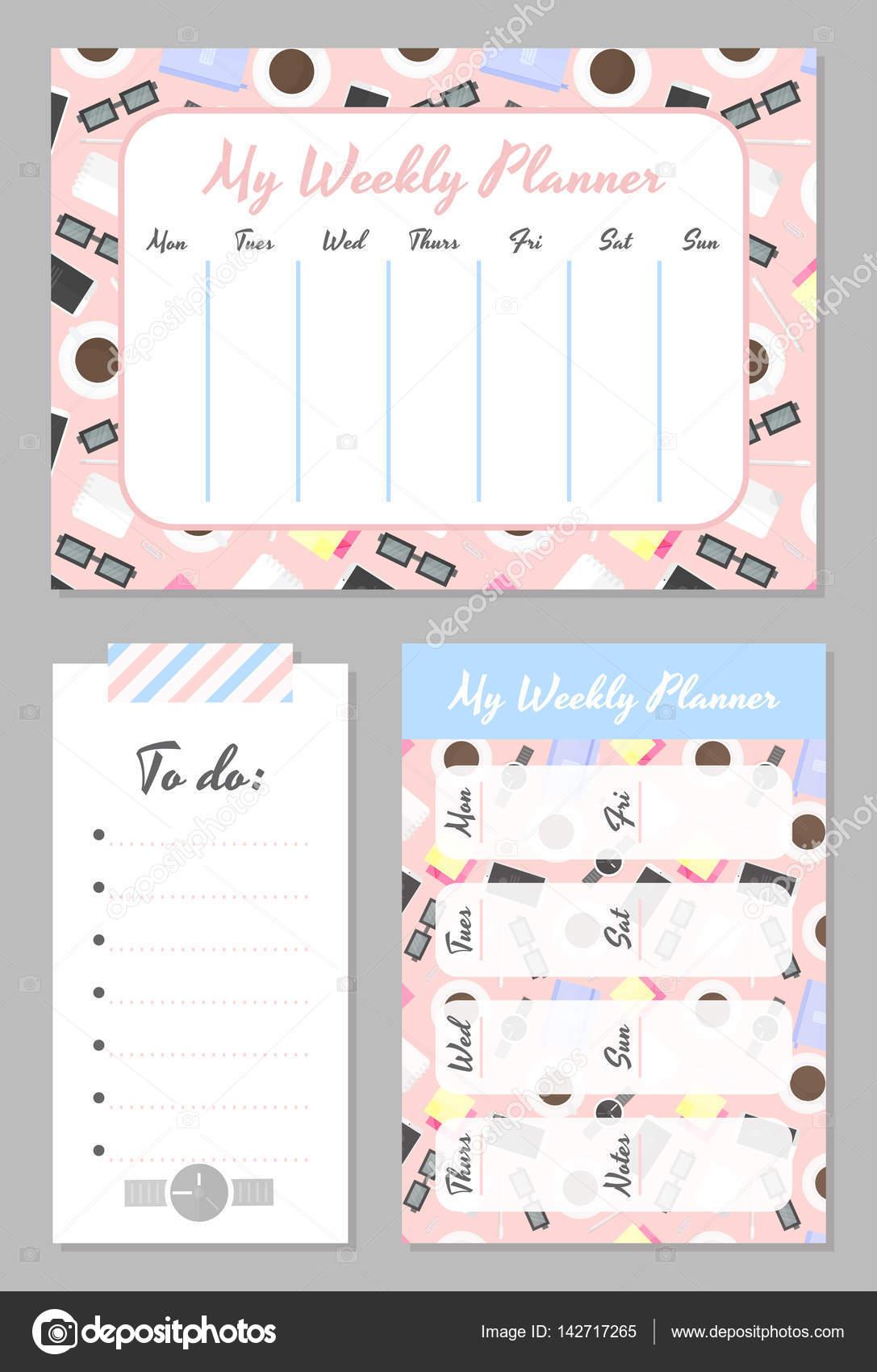 Weekly Calendar Organizer Printable : Imágenes plantillas para agendas plantilla de