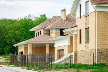 Unfinished european house of brick