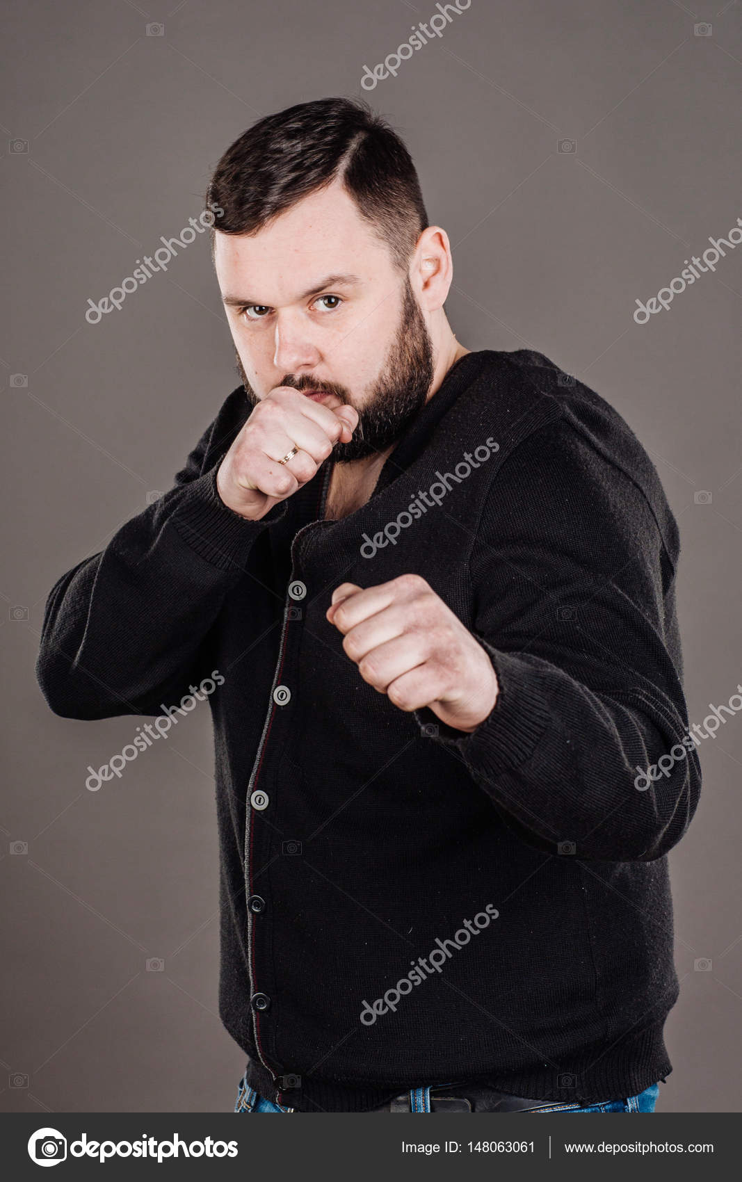 Portrait Of Angry Business Man Fists In Air Negative Emotion Facial Expression Photo By Kaninstudio