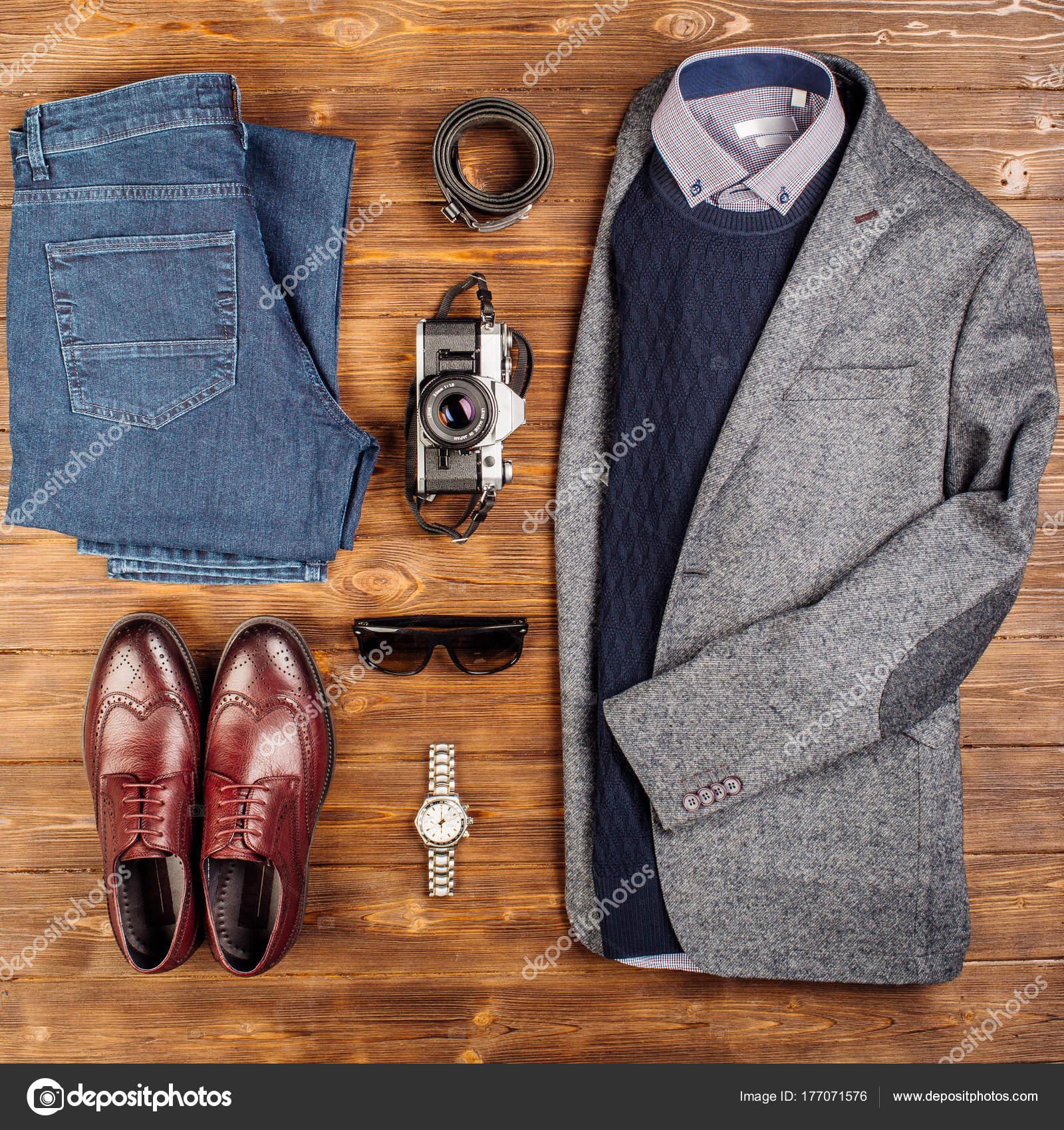 b4cde68b9085a Conjunto de moda de lujo para hombres  chaqueta
