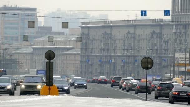 Auto in Moscow at Kutuzovsky Prospekt Flows