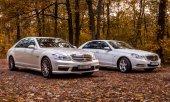 Chisinau, Republik Moldau; 11. Oktober 2017. Mercedes-Benz Club-Festival in der Republik Moldau. Mercedes-Benz S-Klasse W221. Redaktionelle Fotos