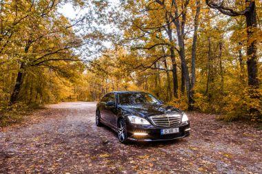 Chisinau, Moldova; October 11, 2017. Mercedes-Benz club festival in Moldova. Mercedes-Benz S Class W221. Editorial photo