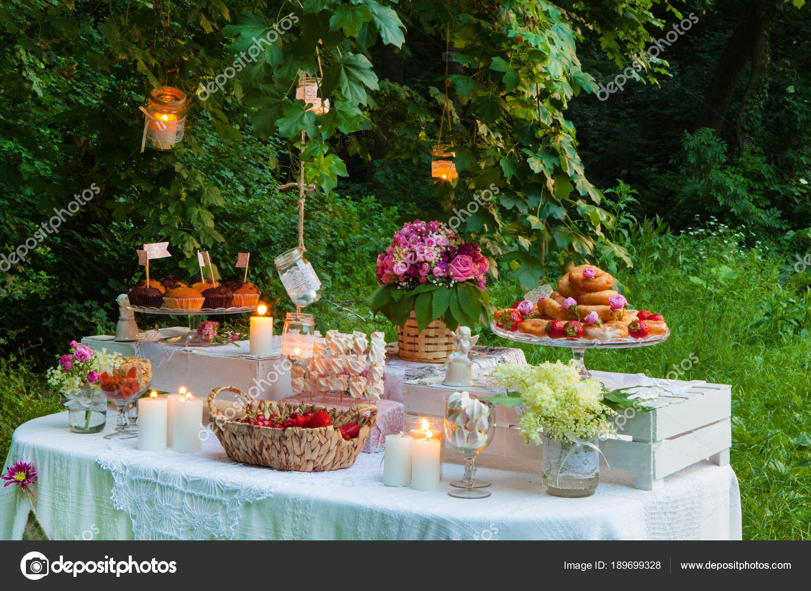Wedding Decoration Forest Rustic Wedding Ceremony Forest Vintage ...