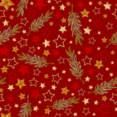 Vector stars and laurel background, holiday 23 february pattern and 9 may victory day