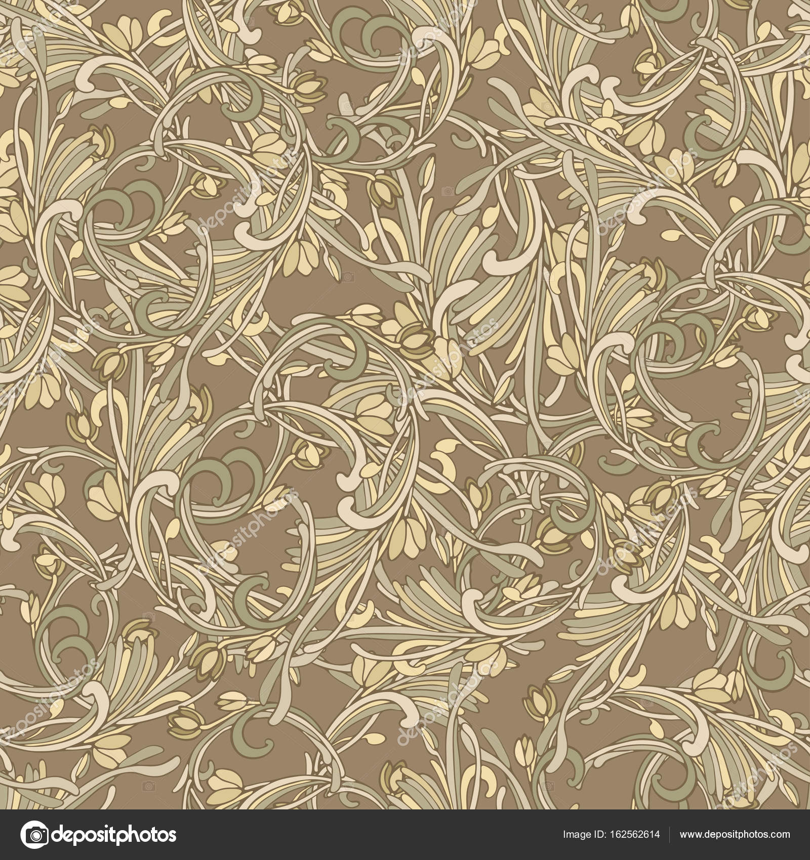 Seamless background baroque style brown color vintage for Baroque style wallpaper