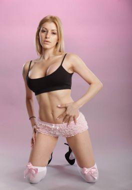 Cute blond girl in underwear