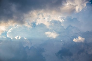 Sunset clouds with blue sky, sky cloud background.