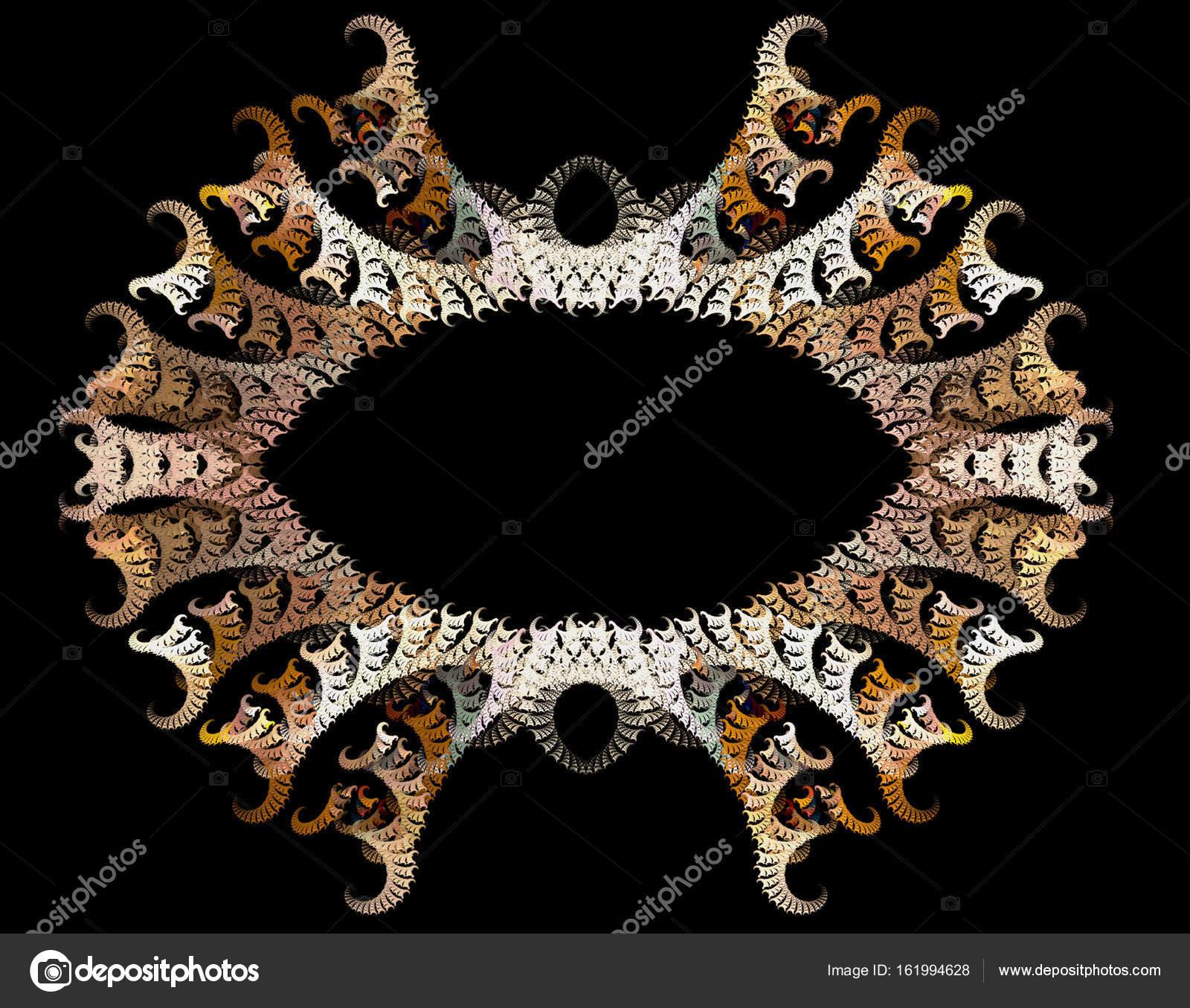 Abstrakte Fraktal Rahmen mit gebogten Struktur — Stockfoto ...