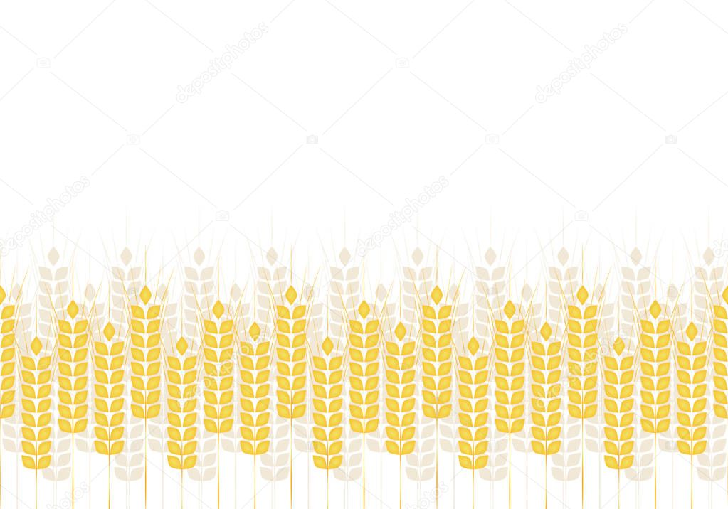 Abstract simple pattern of wheat ears, vector ornament