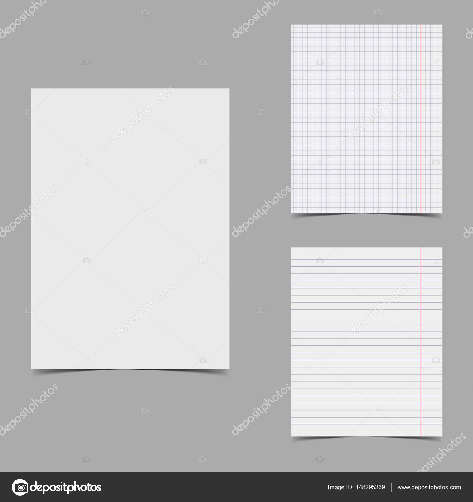 Vector Paper Sheets Set