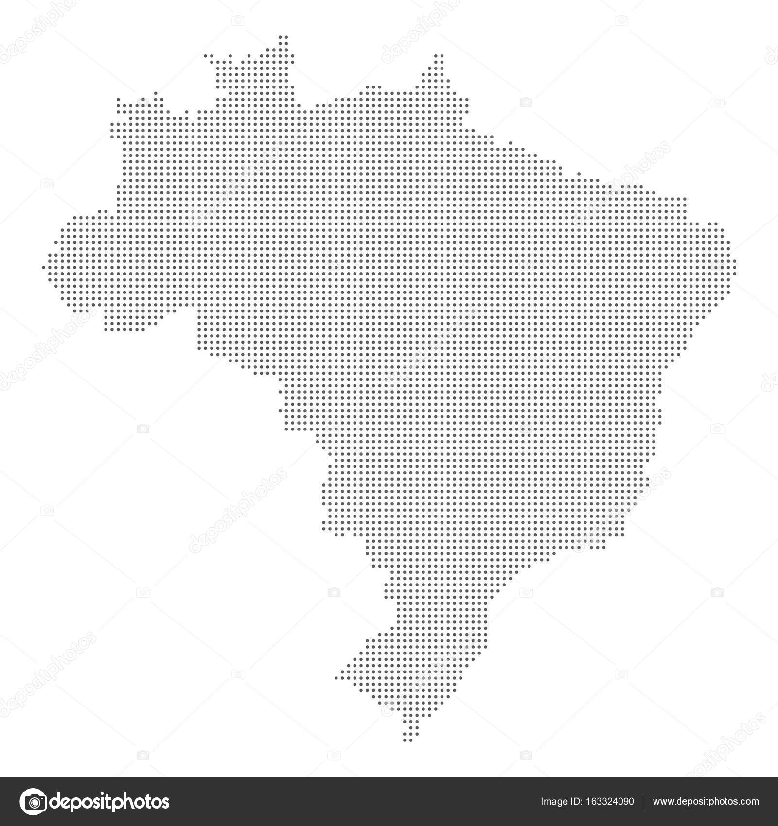 Dotted abstract Brasil map. Vector dot map. — Stock Vector ...