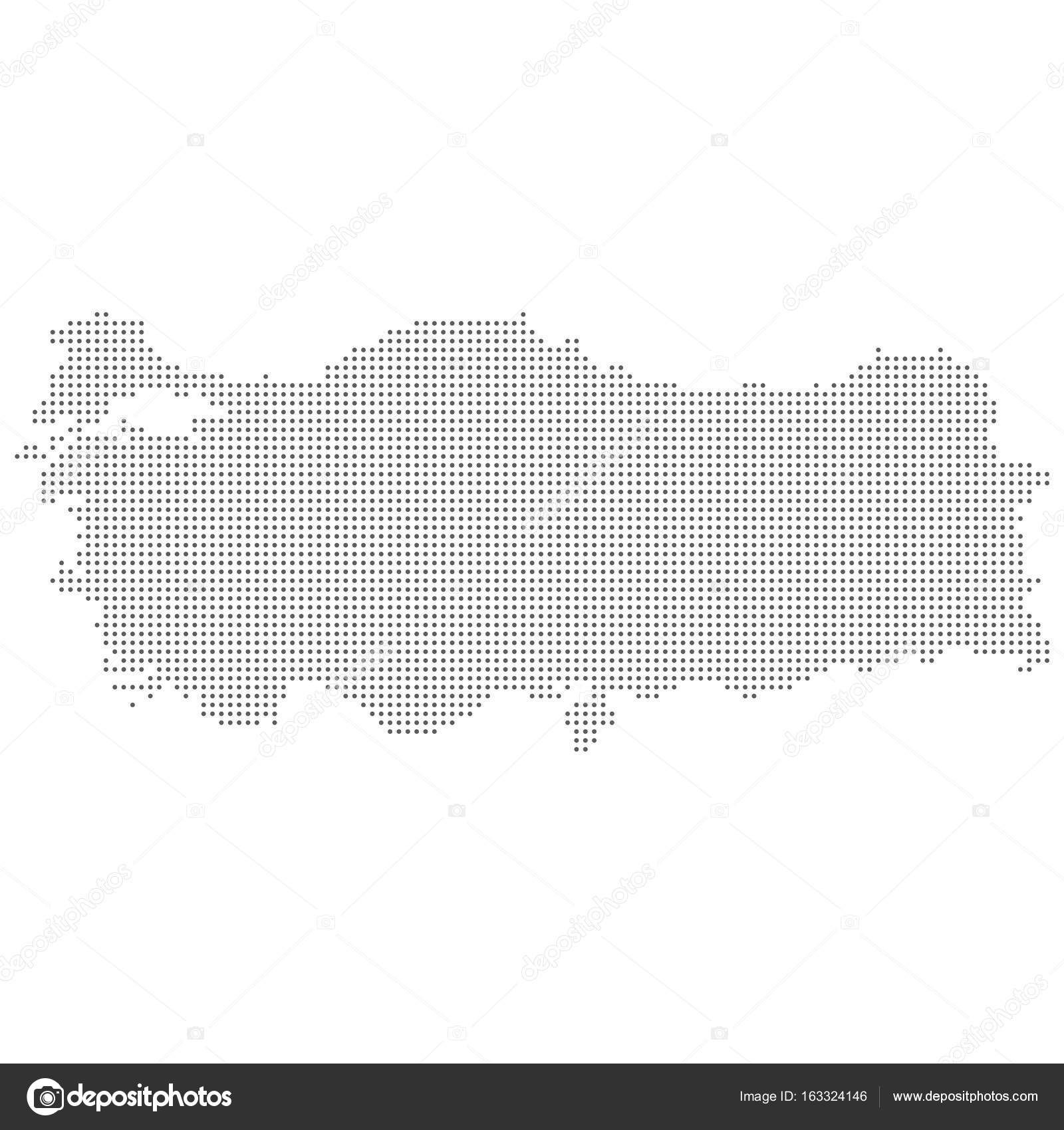 Dotted abstract Turkey map Vector dot map Stock Vector