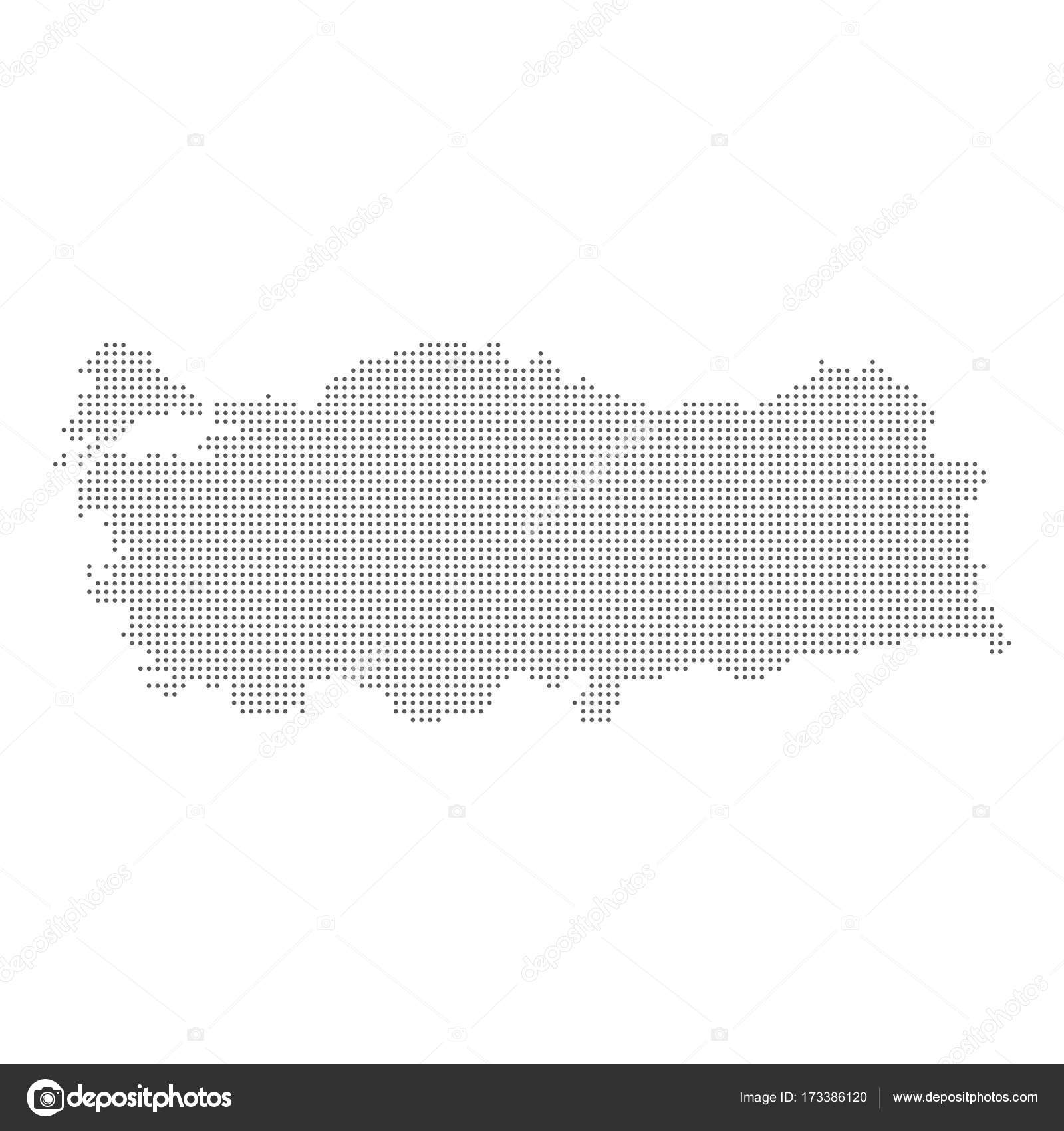 Dotted map of Turkey. Vector eps10. — Stock Vector © Exclusivelly ...