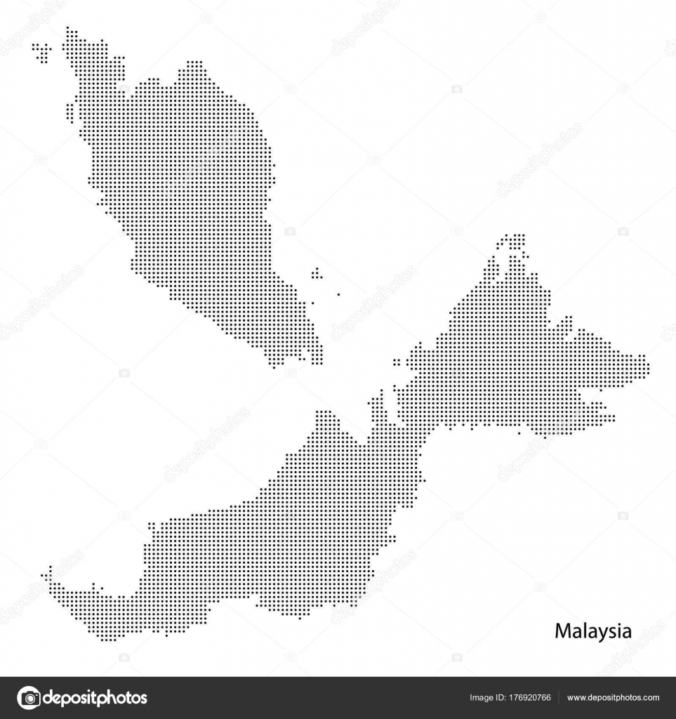 Malaysia dotted map, vectoreps10. — Stock Vector © Exclusivelly ...