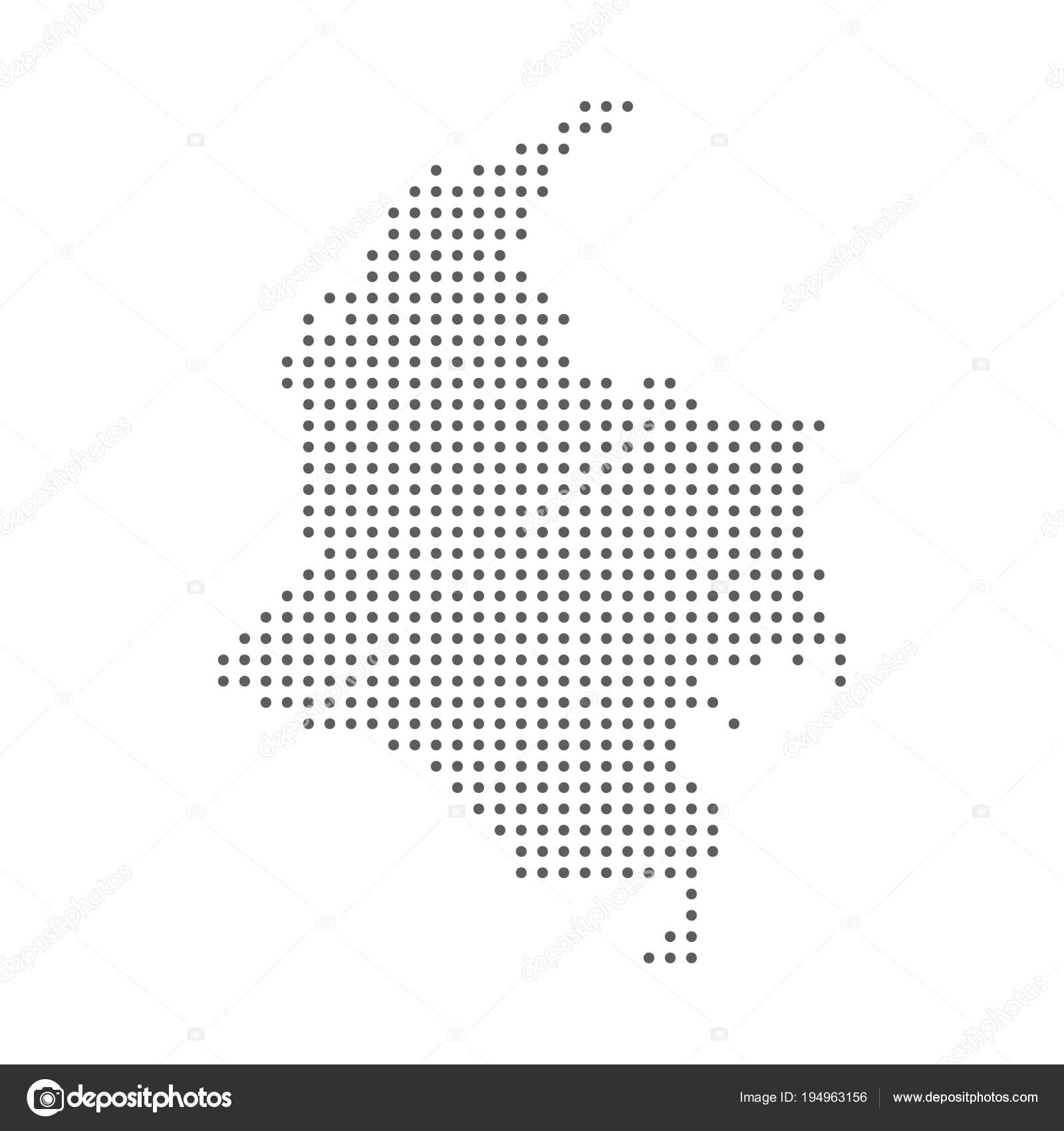 Dotted halftone dot Colombia Map. Vector eps10 — Stock Vector ...